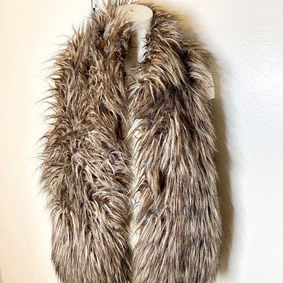 Kenar Jackets & Blazers - Kenar Taupe Grey Faux Fur Vest M